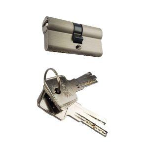 Cilinderslot 30/30mm Satijn nikkel