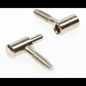 Inboorpaumelle 9x37mm - nikkel