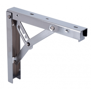 Inklapbare Plankdrager Staal Nikkel 300x305mm
