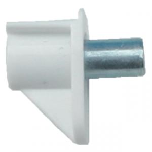 Kastplankdrager wit met metalen stift 5mm