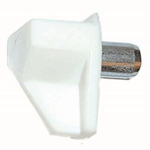 Kastplankdrager wit met metalen stift 5mm schuin