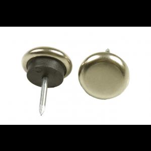 Metaalglijder spijkerbaar Ø 22mm - nikkel