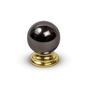 Meubelgreep BLACK NICKEL GOLD 30mm